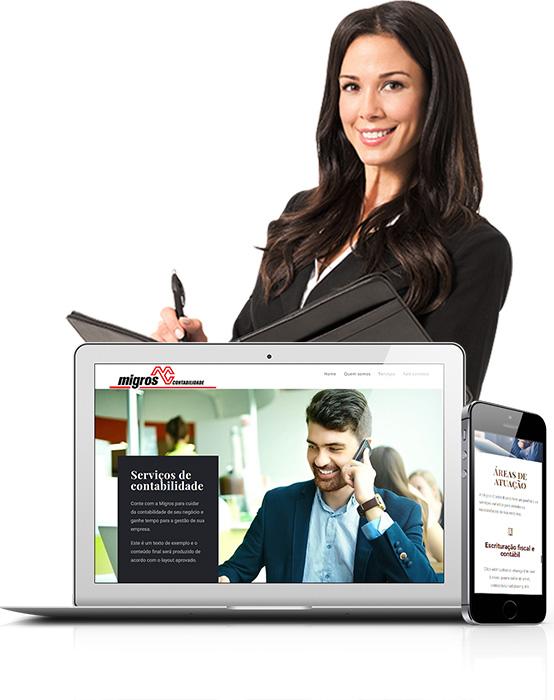 Serviço de criação de site para escritório de contabilidade