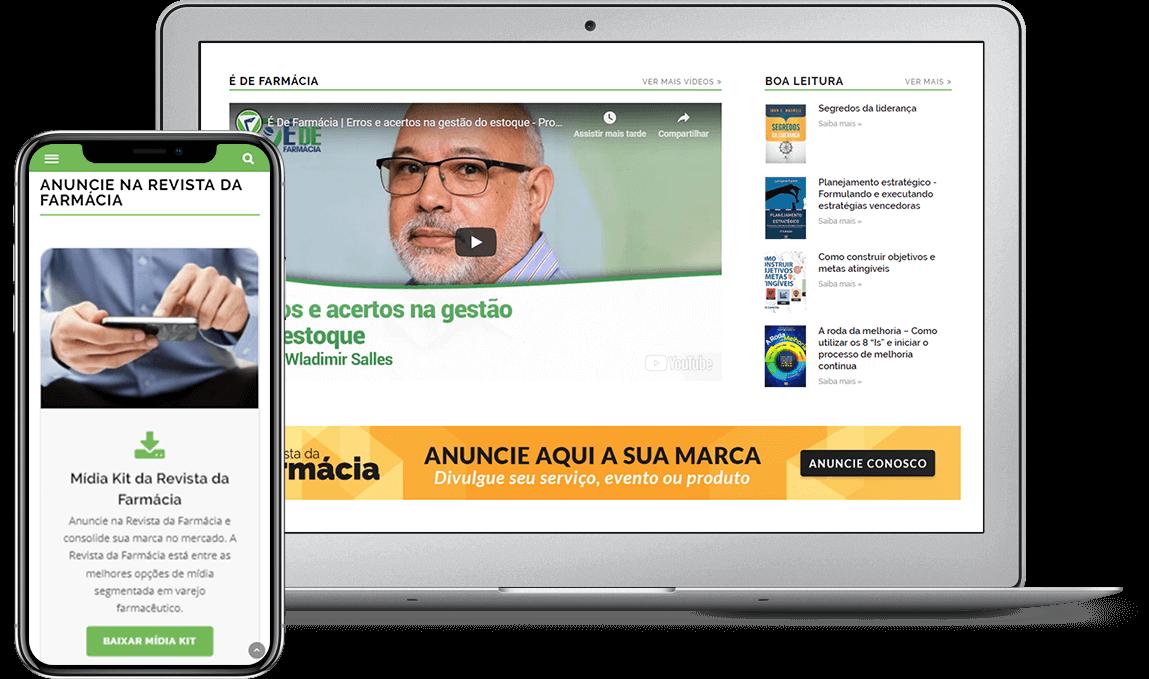 Case de criação do portal Revista da Farmácia