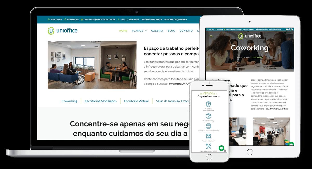 Criação do site Unioffice
