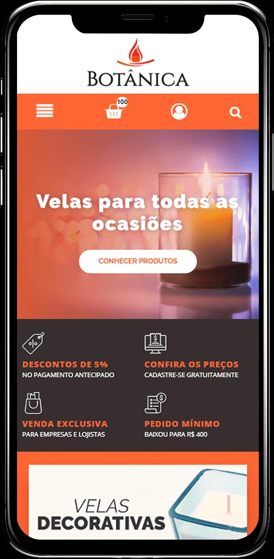 Criação de site para pedidos online adaptado para smartphones
