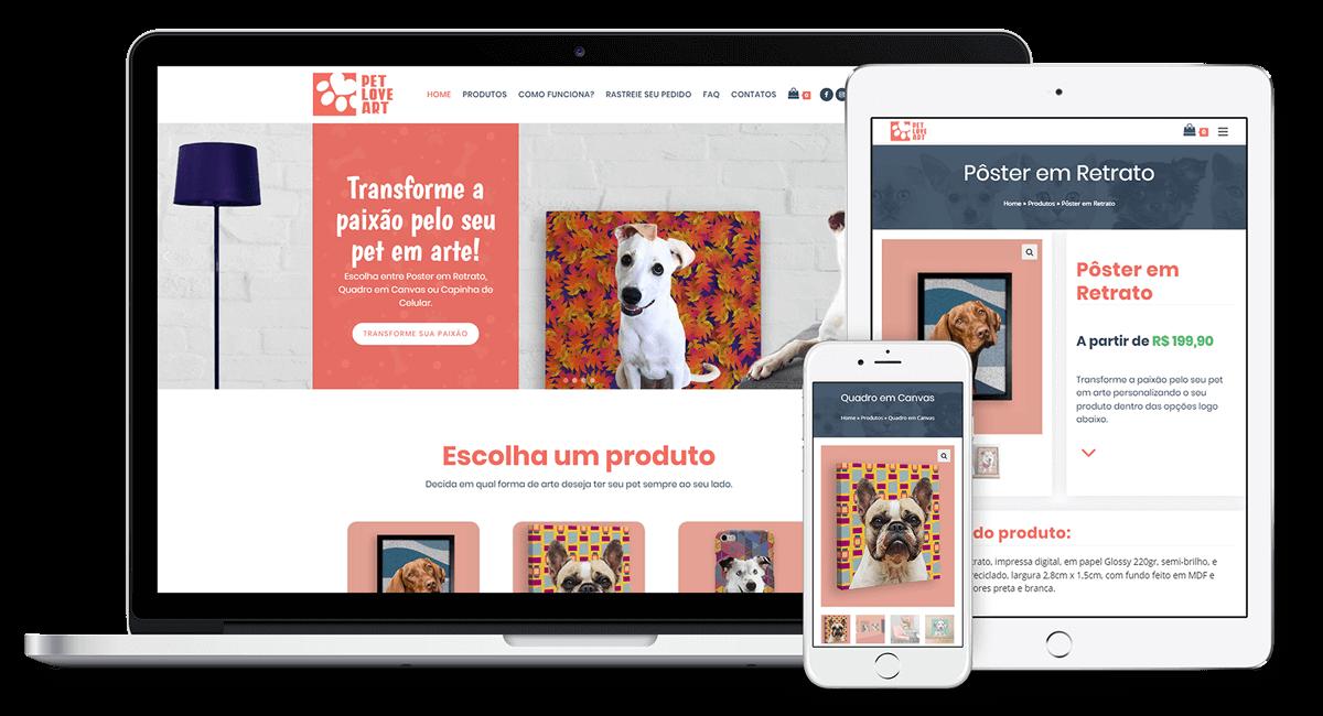 Criação do e-commerce para a PetLoveArt