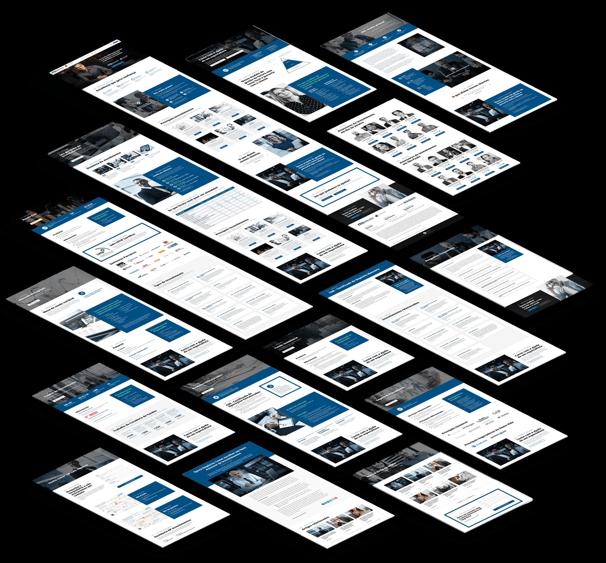 Criação de site responsivo para Meta & Actio Investimentos