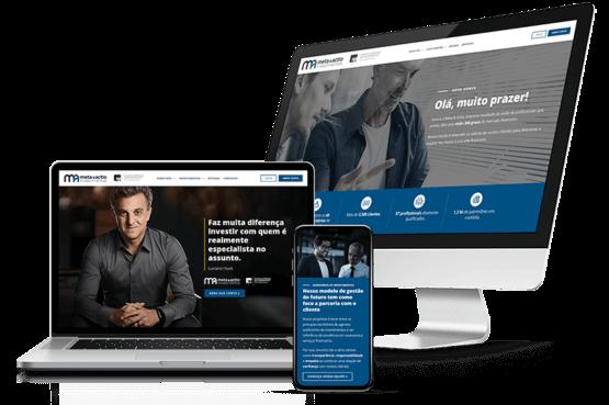Case de criação do novo site institucional para a Meta & Actio Investimentos
