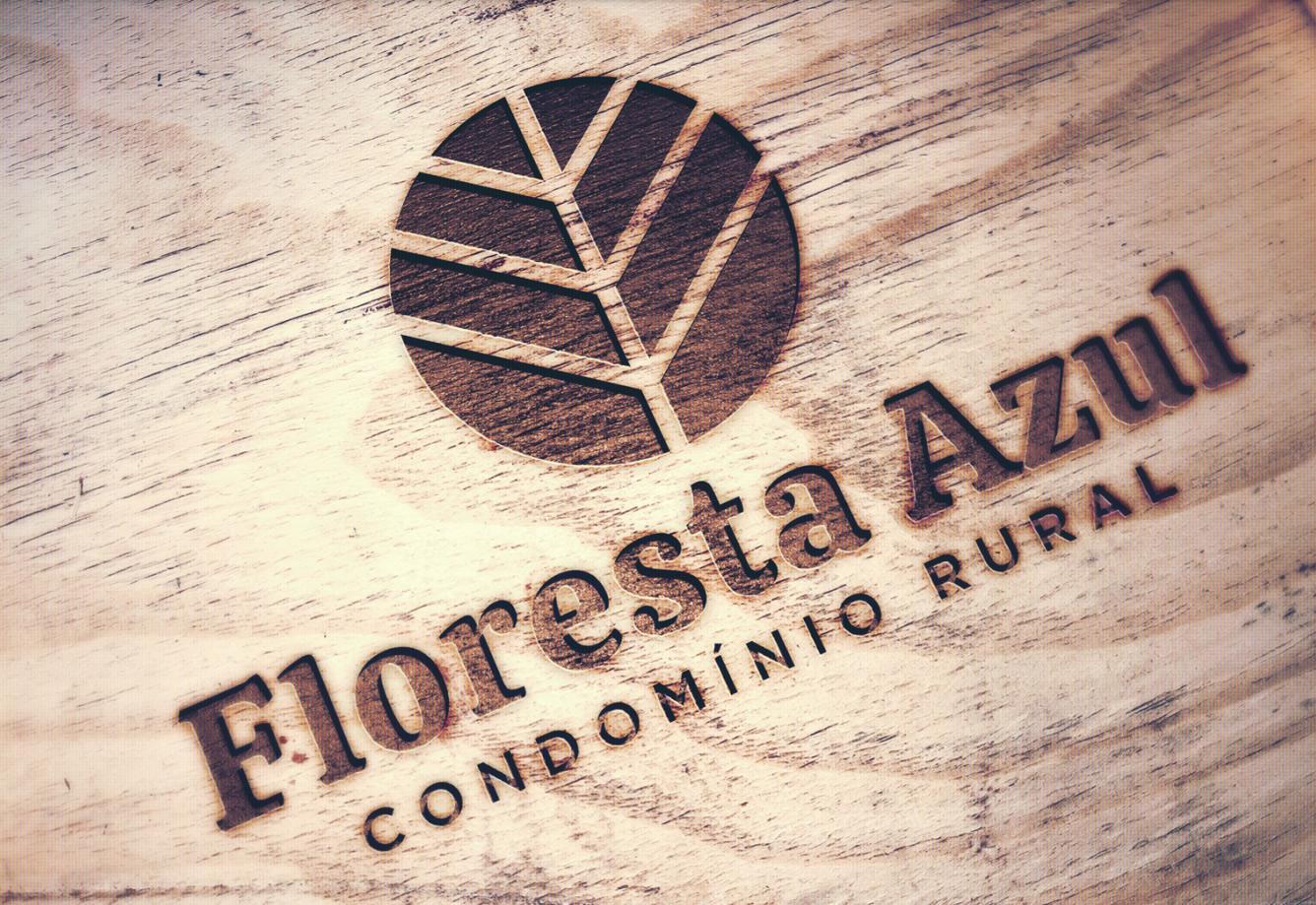 Criação de identidade visual para Floresta Azul Condomínio Rural