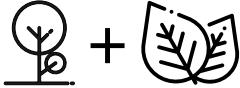 Ícones para criação de identidade visual Floresta Azul
