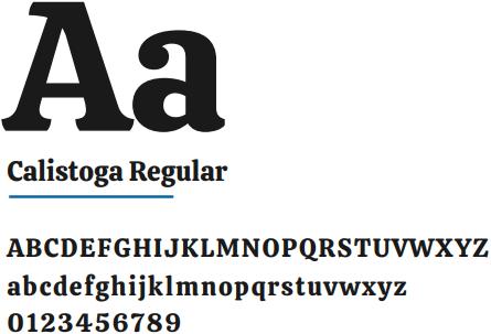 Família tipográfica para criação de logotipo: Calistoga