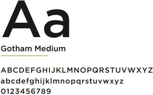 Família tipográfica para criação de logotipo: Gotham